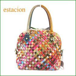 estacion bag エスタシオン バッグ etb9178mt マルチ 【ワクワクしちゃう!可愛い。色。色。色々。。エスタシオン鞄 タップリ入る・メッシュのバッグ】