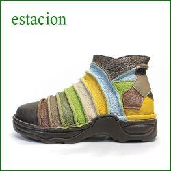 ESTACION エスタシオン  メンズ etm1007br ブラウンマルチ 【人気上昇ブランド↑↑↑ エスタシオン・・・限定!メンズ・アンクル】