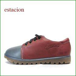 エスタシオン靴  estacion etn237821gy グレイワイン 【 新鮮コンビカラー・・安心の柔らかレザー。。 エスタシオン。 くねくねソールのマニッシュ】