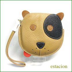 estacion エスタシオン コインケース etw8058br ブラウン犬 【可愛いワンちゃん・・・おやつを持ってお出かけ・・エスタシオン コインケース】