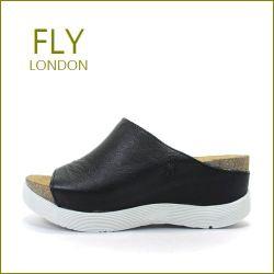 FLY LONDON フライロンドン fy672bl  ブラック 【可愛い2段ソール・・・ボリュームたっぷりミュール・・FLY ・足を包む最高の履き心地】【レディース】