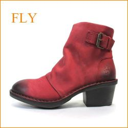 FLY フライ fy897re  レッド 【味のある いい革&いい色・・包む感じの履き心地・・FLY・快適アンクルショート】【レディース】