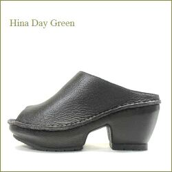 hina day green ヒナデイグリン hi2028dn ダークブラウン 【かわいいソールができました。快適 柔らかクッション・ HinaDayGreen 一枚革の厚底ミュール】