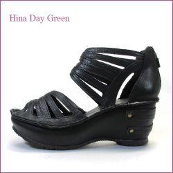 hina day green  ヒナデイグリン hi4475bl  ブラック  【可愛いボリューム・・安心のふわふわクッション・・ hina  ほっとするブーツ・サンダル】