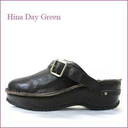 hina day green  ヒナデイグリン hi6002dn ダークブラウン  【プックリ可愛い履き口パッド・・安心のふんわりクッション・・ hina  サボ サンダル】