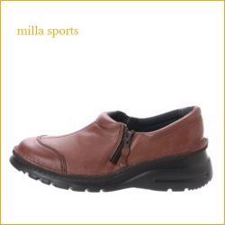milla sports  ミラスポーツ  mi11028 【超 軽量ソール登場!!空気を履いた感覚・・milla sports・可愛いジッパーマニッシュ】