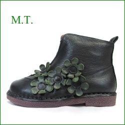 エムティー MT  mt9203bl ブラック 【大人可愛いスタイリングにマッチする・・・快適柔らかソール。。MT お花 ショートブーツ】