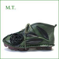 エムティー MT  mt9220gr カーキ—グリーン 【可愛いお花が咲いている・・・くねくね柔らかソール。。MT アンクルブーツ】