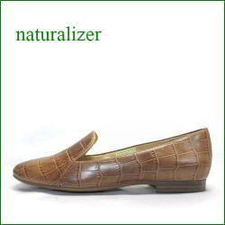 naturalizer靴  ナチュラライザー靴 na465br  ブラウンクロコ 【よく馴染むヤギ革レザー!あわせやすいシンプル。。naturalizer靴 オニグリ*スリッポン】