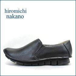 nakano hiromichi  ナカノヒロミチ  nk720bl  ブラック 【どんどん履ける軽さ160g・・すぽっ!と履けるサイドゴア。。hiromichi カウレザー・スリッポン】