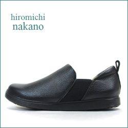 nakano hiromichi  ナカノヒロミチ  nk752bl  ブラック 【すっきりシンプルがオシャレ。。hiromichi スニーカー感覚の・・カウレザー・スリッポン】