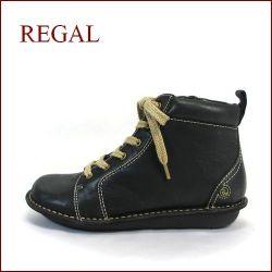 REGAL リーガル re35bl ブラック  【すぐ馴染むオイルレザー・・可愛い丸さの・・REGAL 楽らく巾広・ブーツ】