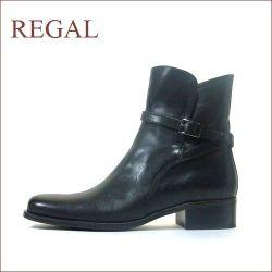 REGAL リーガル クロスベルトブーツ ブラック 【本物の履き心地を教えてくれるクラッシックなショートブーツ】