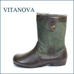 vita nova ビタノバ vt2871dn ダークブラウン 【可愛い、まん丸オブリックトゥ、いい色してる、上品素材・ビタノバ モコモコ・ブーツ】