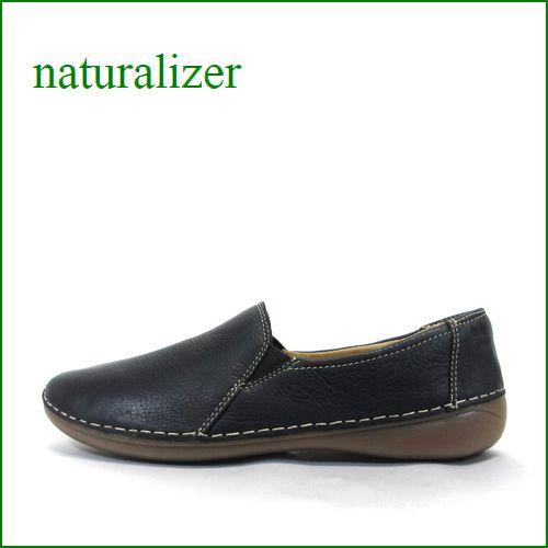 naturalizer靴  ナチュラライザー靴 na58bl  ブラック 【かわいい丸さのラウンドトゥ・・馴染むヤギ革・・naturalizer靴  シンプルスリッポン】