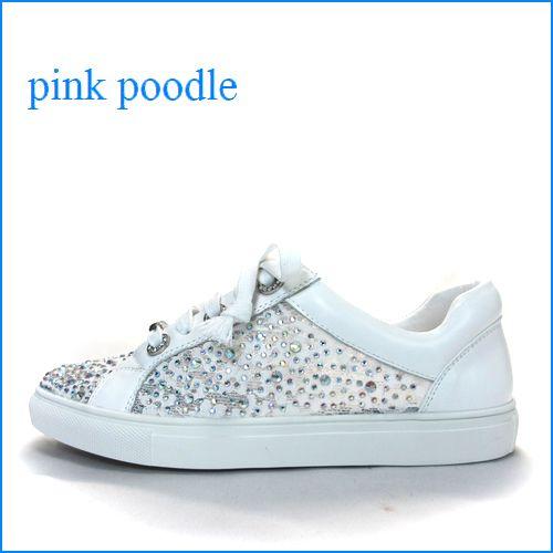 pink poodle ピンクプードル  pi52018wt ホワイト 【可愛さいっぱい!*◇*◇キラキラ*ストーン** pink poodle フラワーレース・スニーカー】