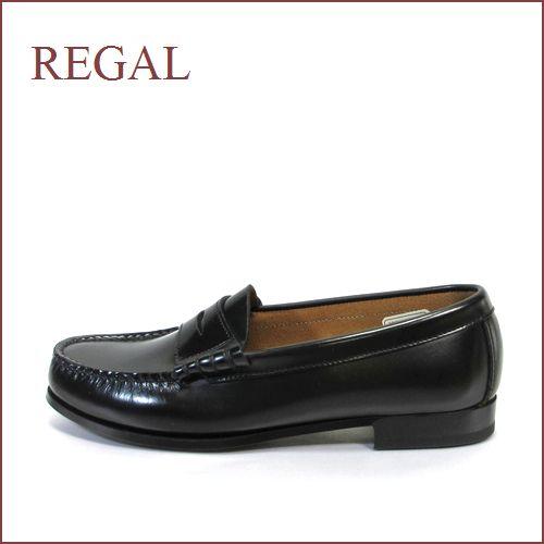 REGAL リーガル re2414bl ブラック 【履きやすくて丈夫な・・標準ワイズ 2E(EE)・・・REGAL 手縫いのモカシン・ローファー】
