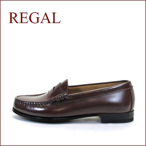 REGAL リーガル  re2414br ブラウン  【履きやすくて丈夫な・・標準ワイズ 2E(EE)・・・REGAL 手縫いのモカシン・ローファー】