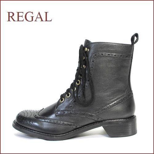 REGAL リーガル re56bl ブラック 【履くほどに ヨク馴染む・・本物のこだわり仕立て・・REGAL ウィングチップ・ブーツ】