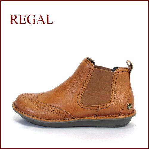 REGAL リーガル re64br ブラウン  【ふわっとクッション仕立て・・可愛い丸さの・・REGAL アンクル・サイドゴア】