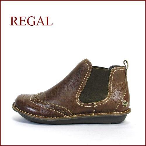 REGAL リーガル re64ka KAブラウン  【ふわっとクッション仕立て・・可愛い丸さの・・REGAL アンクル・サイドゴア】