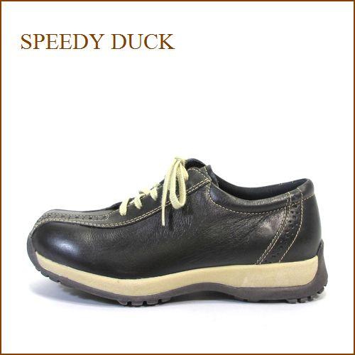 SPEEDY DUCK  スピーディ―ダック sd6865dn  ダークブラウン 【超巾広の・はきやすい・SpeedyDuck 履きやすい まん丸 オブリック】