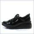 a-ok靴  エ—オーケー  ak84801bl ブラック  【おしゃれなスタイル・・足に心地いいクッション・・a-ok  エナメルスニーカー】