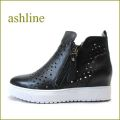 ashline アシュライン as338A7bl ブラック 【新鮮・ダイヤ模様のパンチングカット!シンプルデザイン。。ashline・スニーカースタイル】