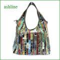 ashline bag アシュライン バッグ asb749mt マルチ 【ドキドキしちゃう!可愛い。色。色。色々。。アシュライン鞄 タップリ入る・エナメルのバッグ】