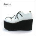 Bzone  bz812wt アンティークオフホワイト 【訳あり商品】【極・厚底ソール!!Bzone すごく可愛い 丸まるマニッシュ】