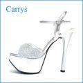 Carrys  キャリーズ ca059sl シルバー 【可愛さ満点!!ぴかぴかラメ&きらきらストーン・・Carrys・・13cmヒールサンダル】