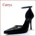 CARRYS キャリーズ ca102bl ブラック 【上品さを求めた綺麗なシルエット CARRYS ポインテッド・セパレートパンプス】