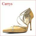 CARRYS キャリーズ ca110bg ベージュ 【クロスベルトで足を細く見せる CARRYS セパレートパンプス】