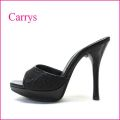 carrys   キャリーズ   ca20bl ブラック 【シンプルできれいなシルエット。。 履きやすいハイヒール!carrys・・ミュールサンダル】