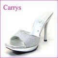 CARRYS キャリーズ ca20sl シルバー 【極シンプルで綺麗なシルエットのグリッターラメミュールサンダル】