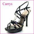◆CARRYS キャリーズ  ca2bl ブラック 【豪華で可愛いリングの CARRYS ハイヒールサンダル】