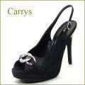 CARRYS キャリーズ  ca401blr ブラック 【高級レースと豪華なリングのオープントゥ・バックストラップ】