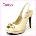 CARRYS キャリーズ ca47bg ベージュ 【豪華なリングと綺麗なシルエットのオープントゥ・バックストラップ】