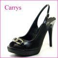 CARRYS キャリーズ ca47bl ブラック 【豪華なリングと綺麗なシルエットのオープントゥ・バックストラップ】