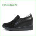 carissimoalte  カリシモアルテ cs1699211bl  ブラック 【可愛さ満点・・ラインストーンのキルティング carissimoalte ・・インヒール・スリッポン】