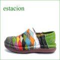 エスタシオン靴  estacion  et068ma マルチ 【人気上昇ブランド↑↑↑ エスタシオン・・・ とても可愛い まん丸スリッポン】
