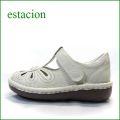 エスタシオン靴 estacion  et06iv  アイボリー 【おすすめしちゃう新型ソール・・・お花畑を散歩。。エスタシオン靴・・・・可愛い!花花・ Tストラップ】