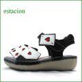 エスタシオン靴  estacion  et125bliv ブラックアイボリー 【トランプしましょ・・ふわふわクッション  エスタシオン 新型ソールのサンダル】