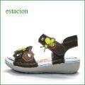 エスタシオン靴  estacion  et127brmt ブラウンマルチ 【可愛いミツバチたちと・・ヘキサゴンなモザイク カット  エスタシオン 新型ソールのサンダル】