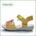 エスタシオン靴  estacion  et127yemt イエローマルチ 【可愛いミツバチたちと・・ヘキサゴンなモザイク カット  エスタシオン 新型ソールのサンダル】