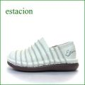 ESTACION エスタシオン et13iv アイボリー 【ふわふわクッションで歩こう↑↓↑ 可愛い手作り靴 エスタシオン・・ しましまスリッポン】