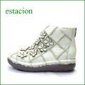 エスタシオン靴  estacion  et1452iv アイボリー 【フワッと感じるオザブ・クッション! エスタシオン・・お花畑のかわいいアンクル】