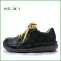 estacion靴  エスタシオン et155bla ブラック 【限定カラー ブラック登場!ボリューム満点・・・エスタシオン すごく可愛い ひもひも マニッシュ】