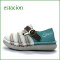 エスタシオン靴  estacion  et2441ivok アイボリーオ―ク 【かわいい新感覚カラー!フワッと感じるお座布なクッション。。エスタシオン靴・・しましまマニッシュ】