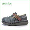 エスタシオン靴  estacion  et2441nv ネイビー 【かわいい新感覚カラー!フワッと感じるお座布なクッション。。エスタシオン靴・・しましまマニッシュ】